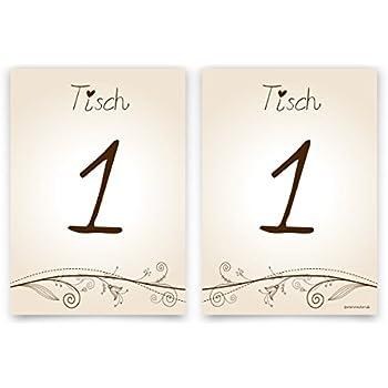 Hochzeit Tischnummern Menge Nummer Name wählbar 1-10 Liebesbaum