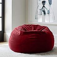 Regal In House relaxing bean bag velvet Large -Light Red