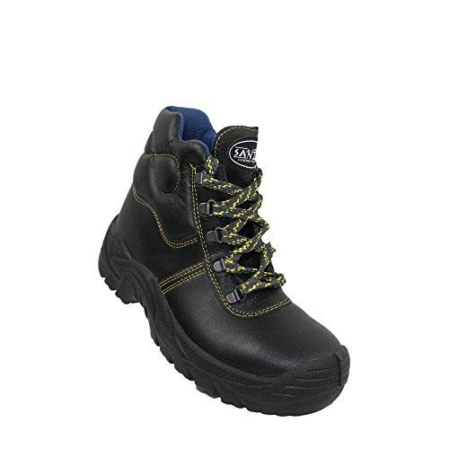 Santos Saphir UK S2 Sicherheitsschuhe Arbeitsschuhe Trekkingschuhe hoch schwarz Schwarz