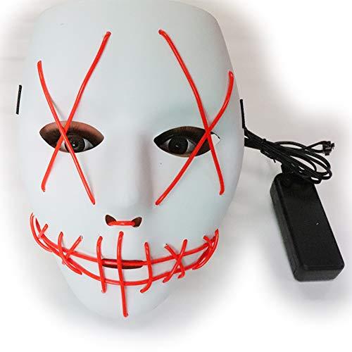 LED Leuchtmaske, Horrorschreck, Halloween Geistergesichtsparty, Cosplay Vibrato Mit Der Gleichen Kaltlichtmaske