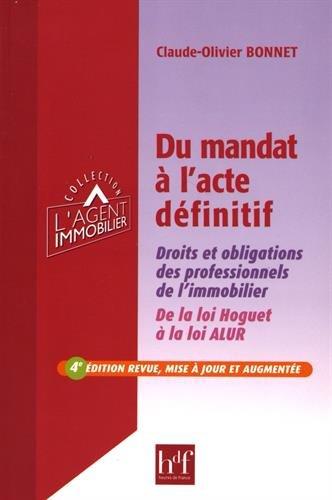 Du mandat à l'acte définitif - 4ème édition revue, mise à jour et augmentée par Claude-Olivier BONNET