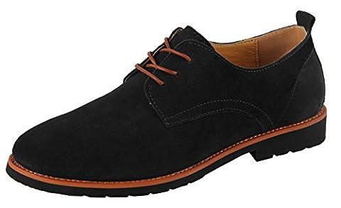 iLoveSIA Chaussures à lacets pour homme de style décontracté, Black with 2017 New Design, 46.5 EU