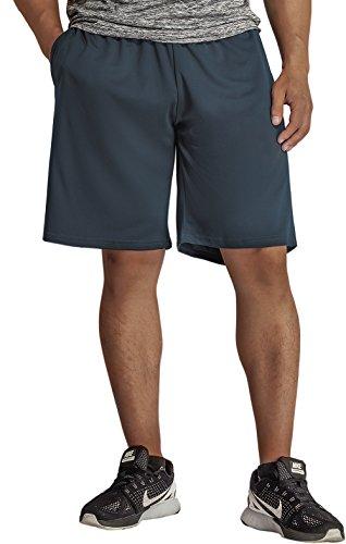 KomPrexx Pantaloncini Sportivi Uomo con Tasche Basket Calcio Shorts da Allenamento Jogging Grigio 1