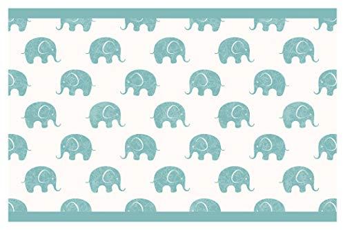 I-love-Wandtattoo b-10034 Kinderzimmer Bordüre 'Elefanten' Afrika Safari Tapete Kinder