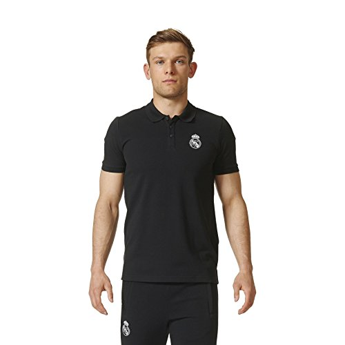 adidas Real Madrid Bst Polo - Camiseta para hombre, color negro / blanco, talla M