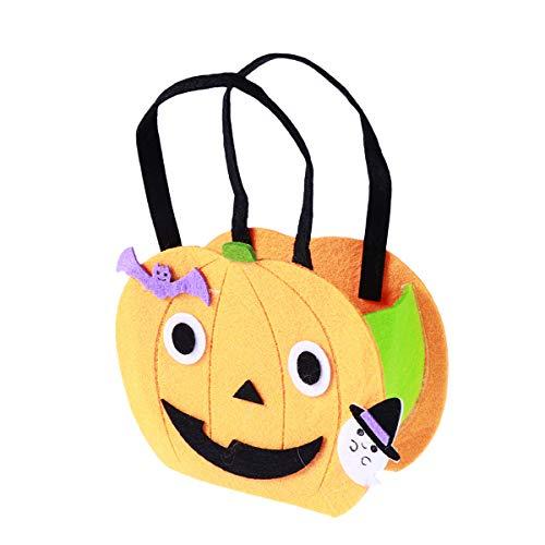 SUPVOX Halloween Kürbis Tasche Eimer Beutel für Kinder Zucker Cookie Candy (Orange)