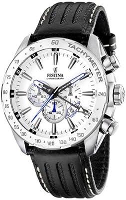 FESTINA F16489/1 - Reloj de caballero de cuarzo, correa de piel color negro