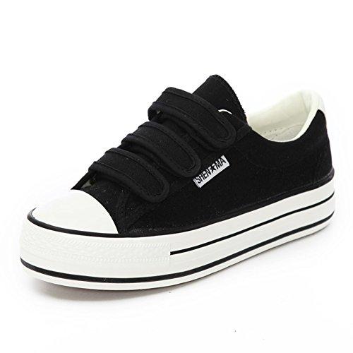 flat-bottom-velcro-canvas-shoe-ladies-summer-air-shoes-low-shoes-thick-crust-b-foot-length238cm94inc