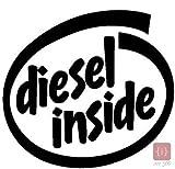 ISEE 360 Diesel Inside Fuel Lid Sides Car Sticker (Black)