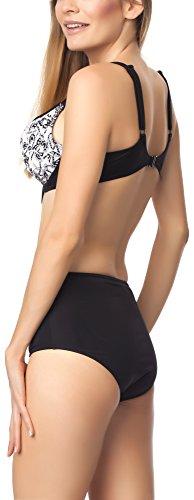 Antie Damen Bikini Set Kaledonia S Schwarz/Weiß