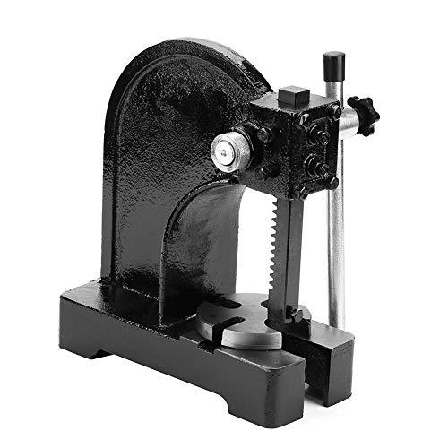 Drehdornpresse, 0.5T / 1T Manuelle Dornpresse Desktop Arbor Press Metall-Dornpresse, aus Kohlenstoffstahl, für nieten, Stanzen von Löchern, installieren und Lager entfernen (0.5T) - Arbor Lager