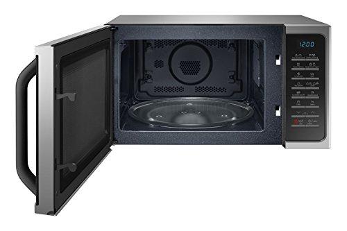 Samsung MC28H5015CS Forno a Microonde Combinato da 900 + 1500 + 2100 W con Grill e Piatto Doratore, Interno in ceramica, 51.7 x 47.6 x 31 cm, 28 l, Grigio