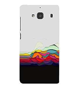 PrintVisa Designer Back Case Cover for Xiaomi Redmi 2 :: Xiaomi Redmi 2S :: Xiaomi Redmi 2 Prime (Electric Neon Coloured Waves)