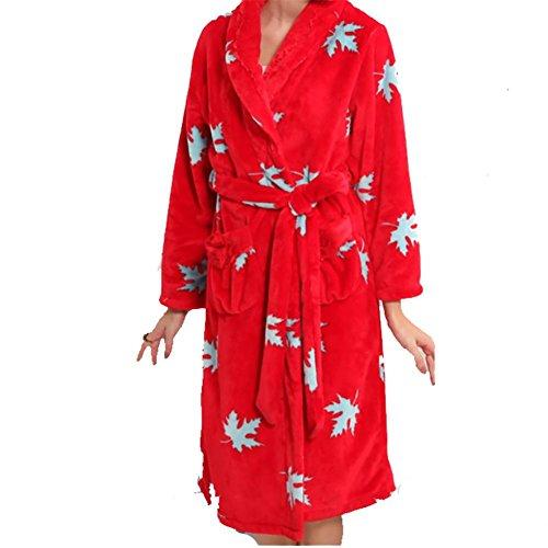 YUYU Manica lunga Cardigan pigiama di flanella ladies di lusso