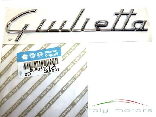 "Original Alfa Romeo \"" Giulietta \"" Schriftzug Modellzeichen Emblem Heck - 50510139"