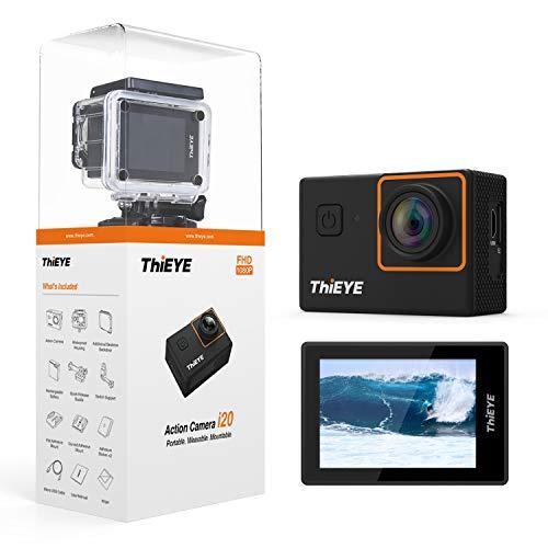 ThiEYE i20 Action Cam 1080P Full HD 12MP Sport Action Camera Subacqueo170°Grandangolare 2.0 Pollici e Kit di Accessori di Montaggio