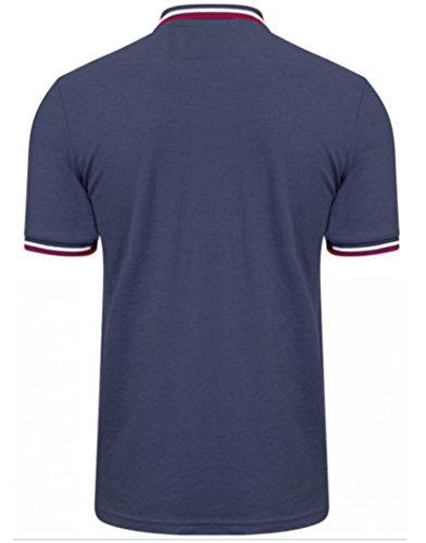 Uomo puntiglio Polo Camicia Maglietta Goodwin Point Tokyo Laundry Estate 1X8376 Indaco marna