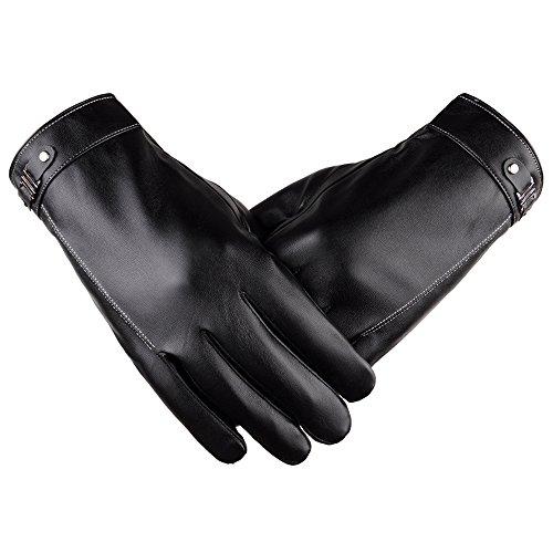 SRANDER Herren Touchscreen lederhandschuhe Outdoor Winter-warme Motorrad Gloves Handschuhe YH101
