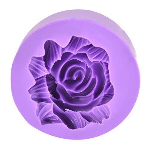 Floral Form Rund Kuchen Fondant Cookie Mould Dekoration DIY Schokolade violett/grün ()