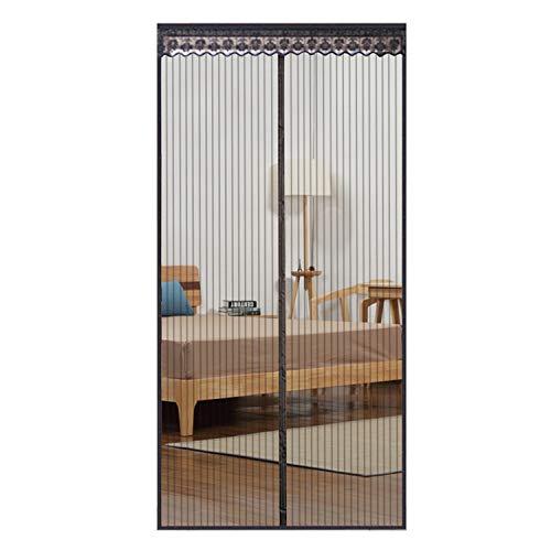 Huabei zanzariera magnetica per porte, tenda di alta qualita con calamita e velcro, finestre ingressi/cortili con struttura intera in rete con velcro, chiusura magnetica sigillo top-to-bottom