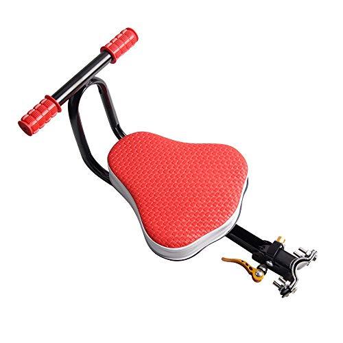 DKZK Fahrrad Kindersitz, Fahrradsitz,Schnellverschluss Vorne Kinderfahrradsitz Kindersattel Elektrisches Fahrrad Kindersicherheit Vordersitz Sattelkissen