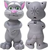 SCRAZY Grey Talking Tom Cat with Touch a...