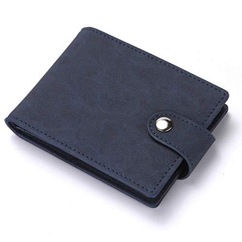 WeishenG Umwelt Simple Style Dull Polnische Ledertasche Thin Card Holder Clutch Fold Wallet Männer ändern Clip(None NB) -