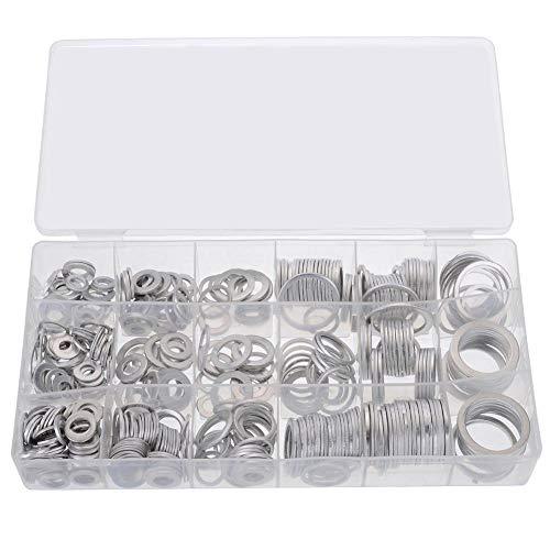 szseven 450 Stücke Aluminium O-Ring Sortiment Kit, Aluminium Dichtung Sortiment Dichtungssatz Muti-Funktion O-Ring Set Repair Tool Set
