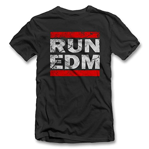 Run Edm Vintage T-Shirt S-XXL 12 Farben / Colours Grau