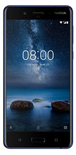 (Certified Refurbished) Nokia 8 (Tempered Blue, 64GB)