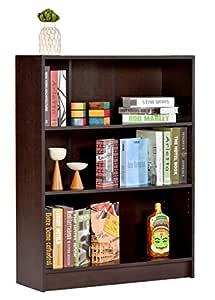 DeckUp Muvo Book Shelf (Dark Wenge, Matte Finish)