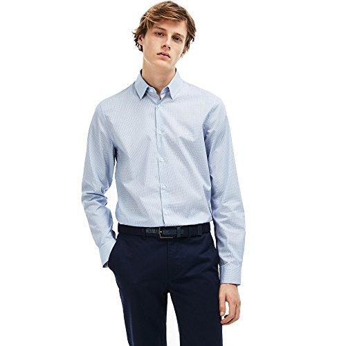 Preisvergleich Produktbild Lacoste Men's Men's Light Blue Shirt with Polo Collar in Size Eu 46 / 2Xl Light Blue