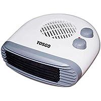 TOSGO TO-CA2180H, Calefactor Horizontal de Aire Caliente con Termostato Regulable. Función de Aire Caliente o Ventilador Temperatura Ambiente. 2000w. Color Blanco.