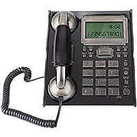 Teléfono Fijo de Pared Retro de Estilo Europeo, Teléfonos con Cable Antiguos del Vintage para Hogar,Oficina,Hotel(A)