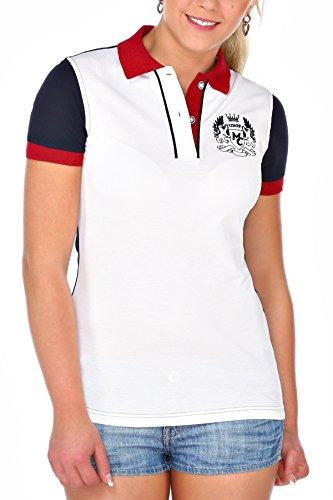 M.Conte Polo Maglietta Manica corta shirt per donna Konstanze bianco S