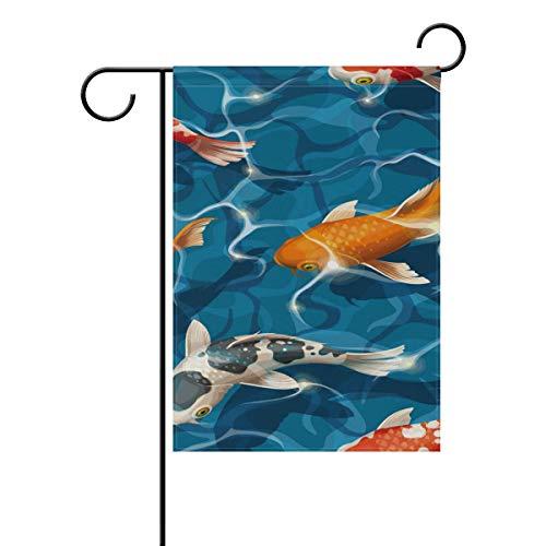 Bandera jardín diseño Carpa koi sin Costuras, 12