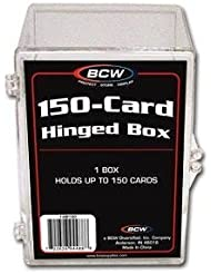 BCW Hinged Box 150 Count - Baseball, Football, Basketball, Hockey, Golf, Single Sports Cards Top Load - Sportcards Card Collecting Supplies by BCW