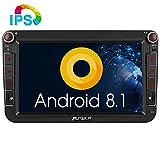 Pumpkin Android 8.1 Autoradio Moniceiver für VW mit Navi Unterstützt Bluetooth DAB + USB Android Auto WLAN 4G MicroSD IPS Bildschirm 8 Zoll 2 Din