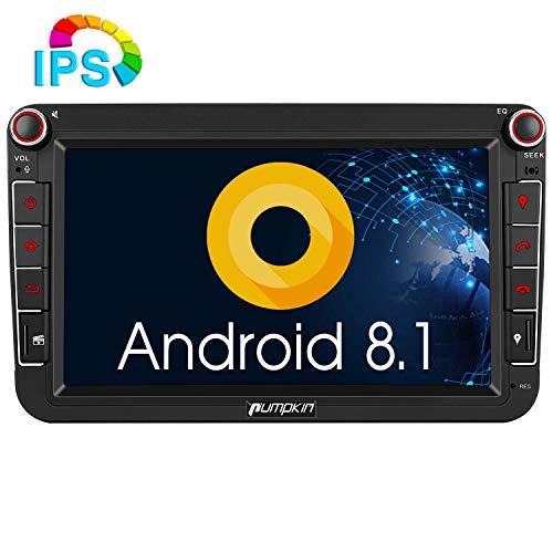 Pumpkin Android 8.1 Autoradio Radio für VW mit Navi Unterstützt Bluetooth DAB + USB Android Auto WLAN 4G MicroSD IPS Bildschirm 8 Zoll 2 Din