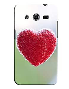 Blue Throat Red Heart Made Of Candy Hard Plastic Printed Back Cover/Case For Samsung Galaxy Core 2