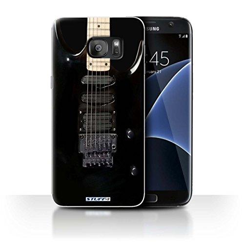 Stuff4 Hülle / Hülle für Apple iPhone 4/4S / Holz Akustische Muster / Gitarre Kollektion Schwarz Electirc