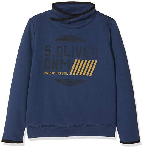 s.Oliver Junior Jungen Sweatshirt 62.811.41.4020, Blau (Blue 5864), 140 (Herstellergröße: S/REG)