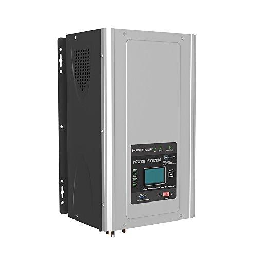 Inverter Onda Pura Hibrido 5000W/15000W 24V regolatore MPPT 60A caricatore