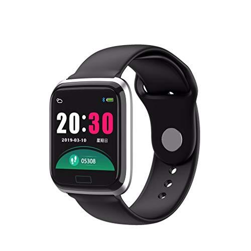 Glowjoy Smartwatch, Fitness Armband Sportuhr Smart Watch Mit Pulsmesser Schlafmonitor Schrittzähler Armbanduhr mit iOS Android für Kinder Damen Herren zum Laufen,Wandern und Klettern (D)