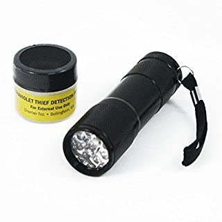 ASR Federal Ultraviolet UV Theft Detection Powder & Ultraviolet UV Led Flashlight Combo