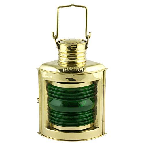 Nauticalia Elektrische Steuerbord-Lampe, Messing, 21 cm -