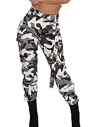 Pantalon Femme à Imprimé Camouflage Jogging Casual Sports Taille Haute  Trousers Jeans Cargo Pantalon Militaire de 7fbf47dfb7f