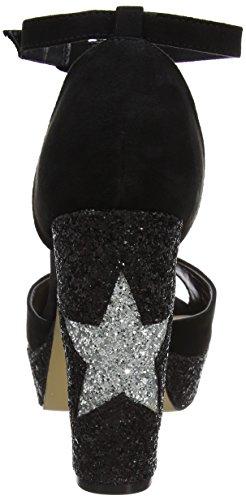Dorothy Perkins - Plataforma Glitter Star, Scarpe Con Meseta Donna Black (negro)