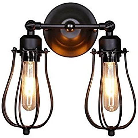 Splink - Lampada industriale da parete, luce regolabile, stile vintage,