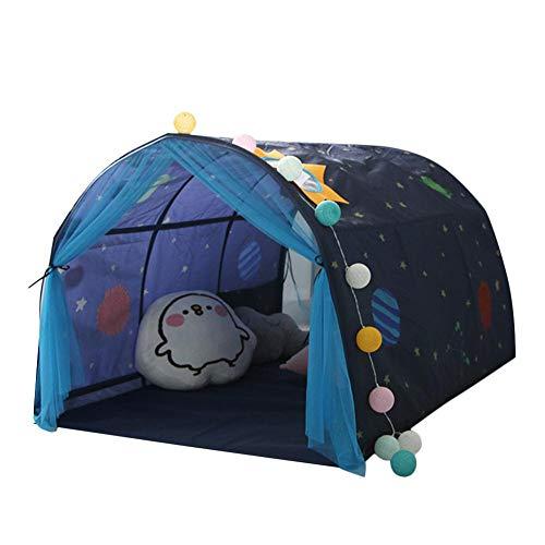 Kinderspielzelt Kinderbett Zelt Sicheres Haus Tunnelzelt Spiel Haus Baby-Heimzelt Junge Mädchen